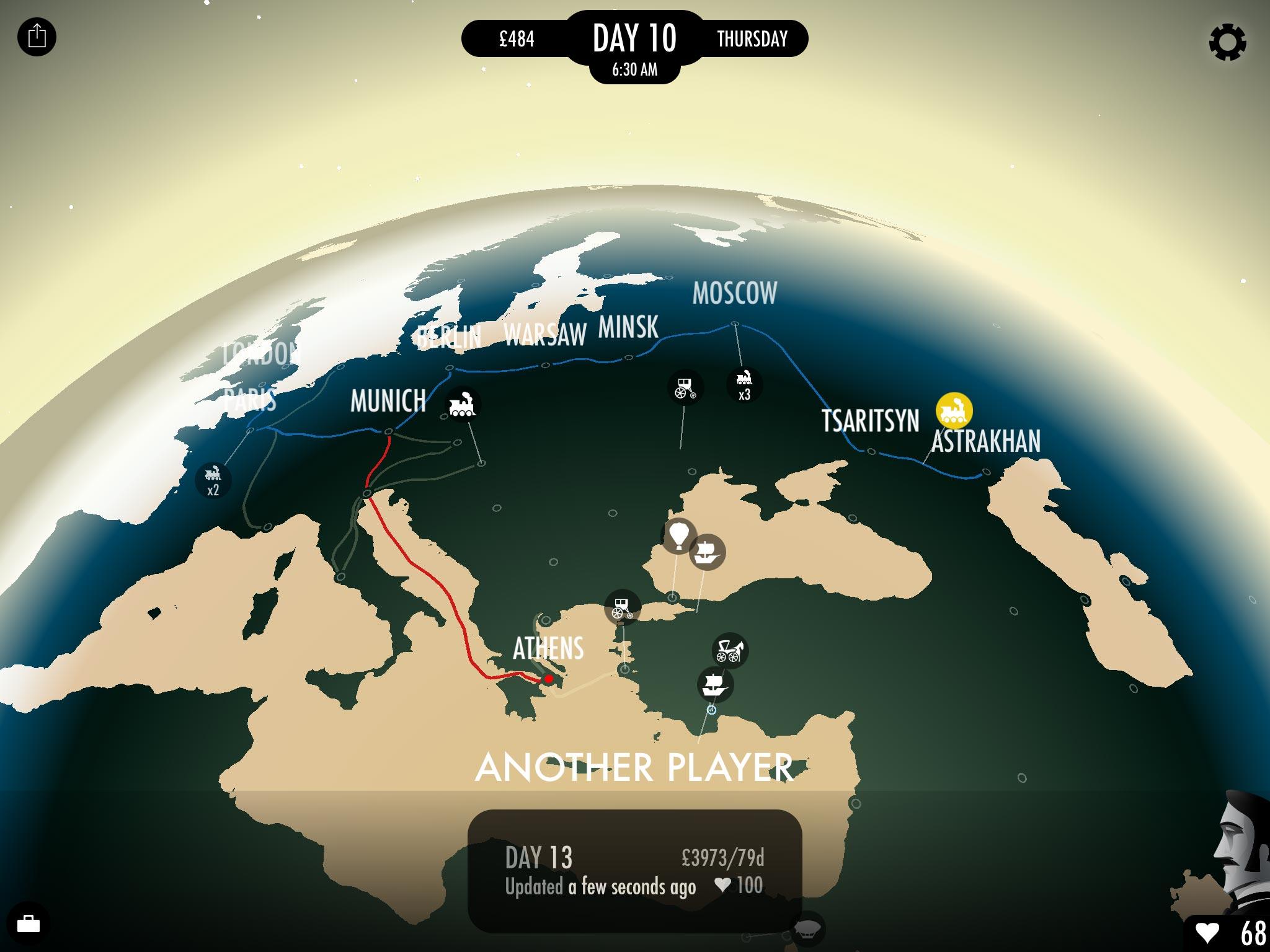 80 Days Map
