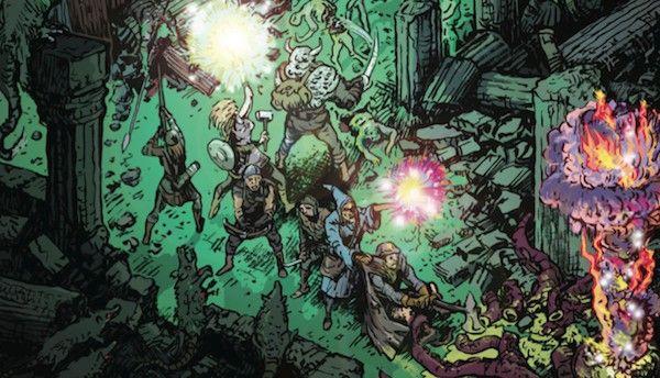 Copertina dell'edizione americana di Dungeon World