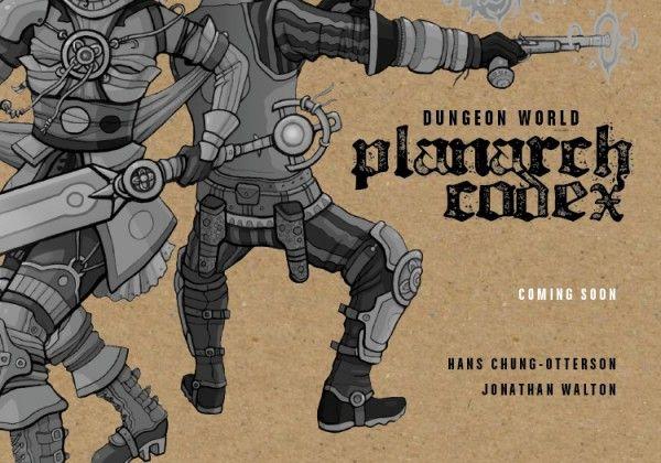 Immagine del planarch codex, uno dei materiali aggiuntivi dell'edizione americana di Dungeon World